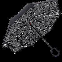 Зонт обратного сложения Up-Brella Journal Black