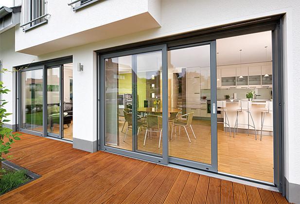 Подъемно-сдвижные алюминиевые двери