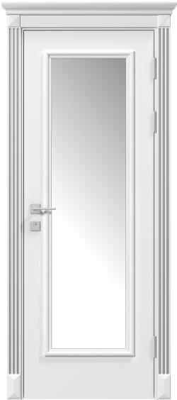 Двери Родос Siena Asti  стекло, белый мат