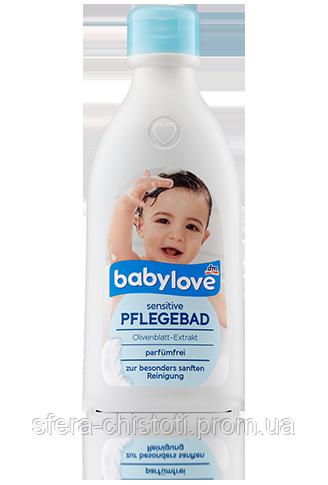 Babylove пенка для купания Sensitive Pflegebad - parfumfrei 500 мл