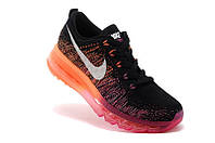 Женские кроссовки Nike Air Max Flyknit Black Orange