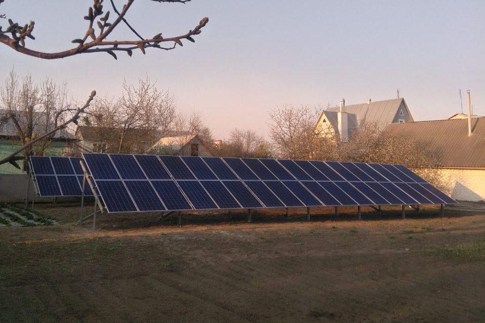 """Монастырище солнечная электростанция под """"зеленый"""" тариф мощностью 24 кВт Amerisolar + Huawei Черкасская область"""