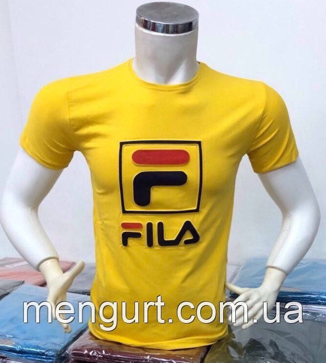 Футболка мужская молодежная фила FILA  3d Турция