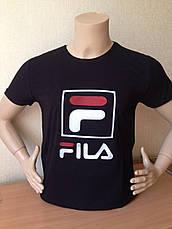 Футболка мужская молодежная фила FILA  3d Турция, фото 2