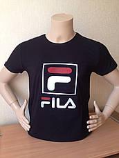 Футболка мужская молодежная фила FILA  3d Турция, фото 3
