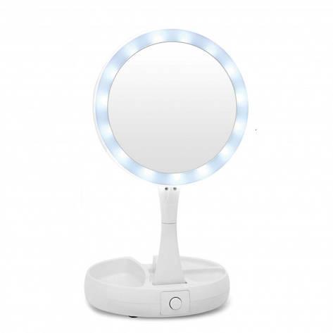 Зеркало косметическое настольное с подсветкой Е21, фото 2
