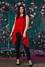 Красивая ассиметричная женская блуза  50, 52, 54, 56, фото 7