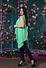 Красивая ассиметричная женская блуза  50, 52, 54, 56, фото 8