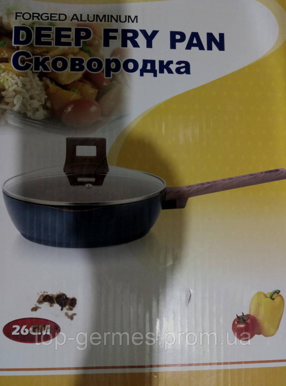Сковорода глубокая  с гранитным покрытием 26см
