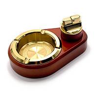 Подарочный набор (пепепельница с зажигалкой)(br-10t)(19х16,5х4,5 см)