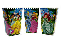 Коробочки детские бумажные для сладостей и попкорна Принцессы .5 штук