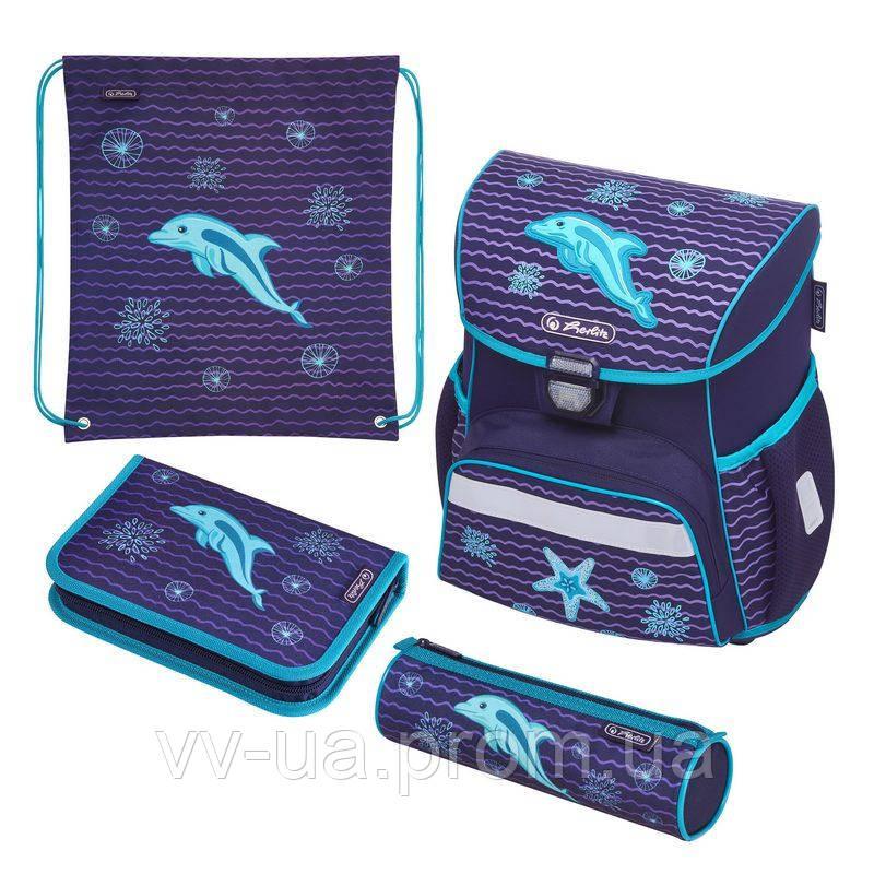 Ранец школьный укомплектованный Herlitz LOOP PLUS Dolphin Дельфин 50020522