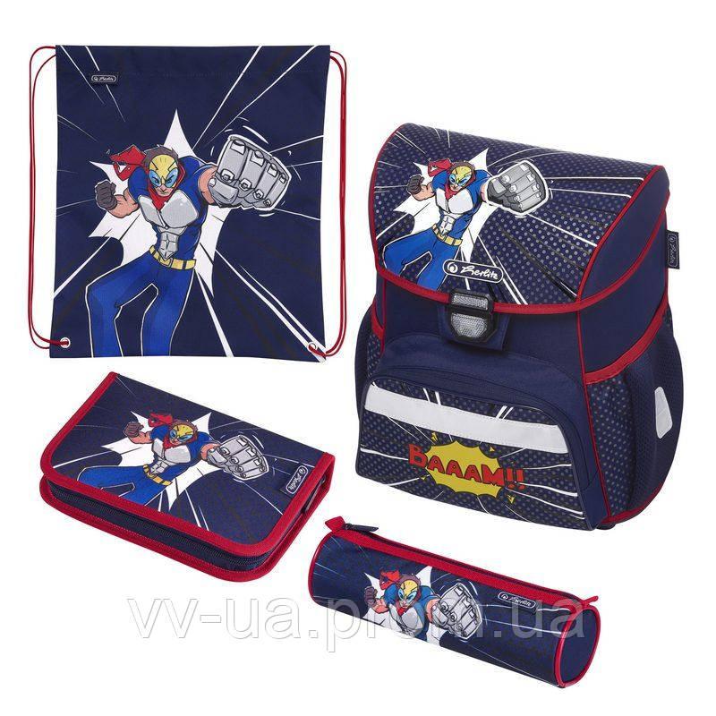 Ранец школьный укомплектованный Herlitz LOOP PLUS Super Hero Супергерой 50020577