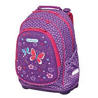 Рюкзак школьный Herlitz BLISS Purple Butterfly Бабочки 50013982