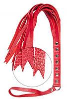Плеть S-M Fancy Leather Floger Red