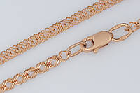 Золотая цепочка ромб двойной П06203041