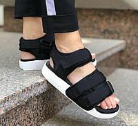 Adidas Adilette Sandal Black White | сандалии женские и мужские; черно-белые; босоножки