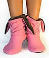 """Модные тапочки """"Зайки"""" розово - серые, фото 2"""