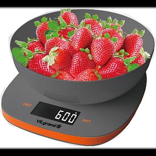 Весы кухонные электронные с чашей SmartWorld ViLgrand VKS-517 5 кг Серый (44665)