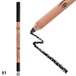 CH-10 Лечебный ультрамягкий карандаш для глаз и губ из можжевеловой древесины № 01 Black