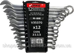 Ключи рожково-накидные набор 12 шт (6-22) VERKE (пластиковый чехол)