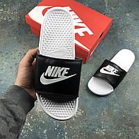 Мужские тапки Nike White\Black