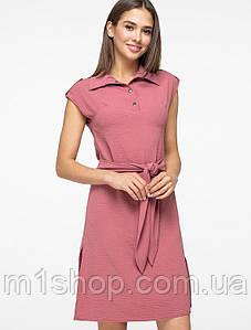 Женское платье-рубашка с коротким рукавом на кнопках (5178-5179ie)