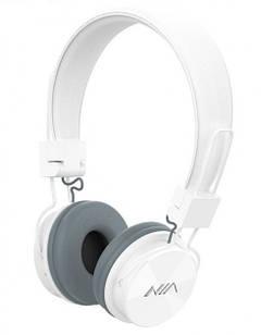 Беспроводные Bluetooth Наушники NIA-X3 с MP3 плеером и радио Белые (60_46140)