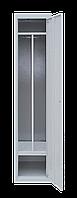 Шкаф для одежды на одного человека ШОМ 1/40 разборной с перегородкою (толщина 0,5 мм)(1800х400х500)