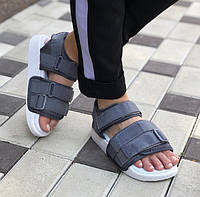 Adidas Adilette Sandal Grey White | сандалии / босоножки женские и мужские; серые; адидас