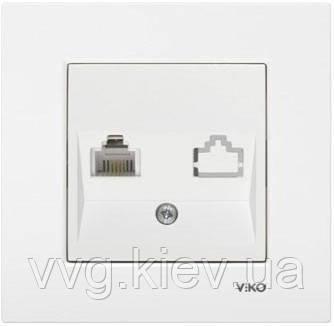 Розетка телефон tf (RJ11) белая VIKO Karre  купить по самой ... 915607fcc9d