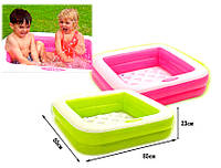 Дитячий надувний басейн «Квадратний» Intex 57100, 85X85X23 см