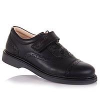 Школьные туфли из натуральной кожи на липучке для мальчиков Tutubi 11.5.91 (31-40)