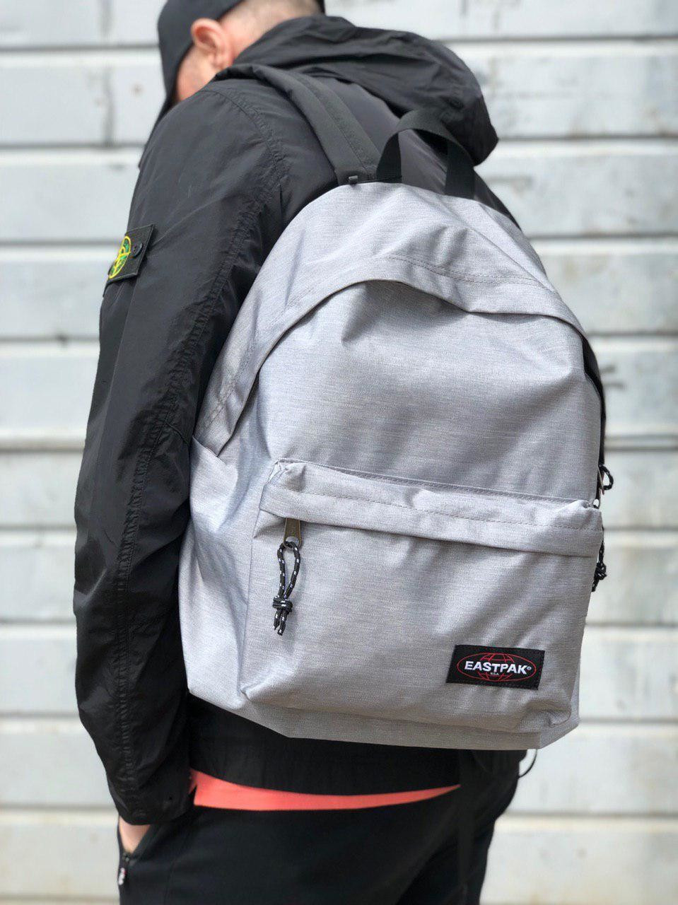 Рюкзак в стиле Eastpak светло-серый