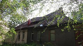 Полный демонтаж старой крыши и монтаж новой на пр. Петровского 1