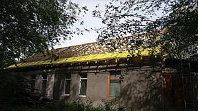 Полный демонтаж старой крыши и монтаж новой на пр. Петровского 6