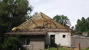 Полный демонтаж старой крыши и монтаж новой на пр. Петровского 7