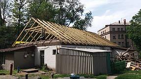 Полный демонтаж старой крыши и монтаж новой на пр. Петровского 8