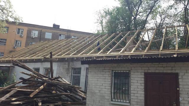 Полный демонтаж старой крыши и монтаж новой на пр. Петровского -1
