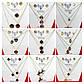422 Женская брендовая бижутерия оптом. Комплект украшений серьги с тройной цепочкой, фото 2