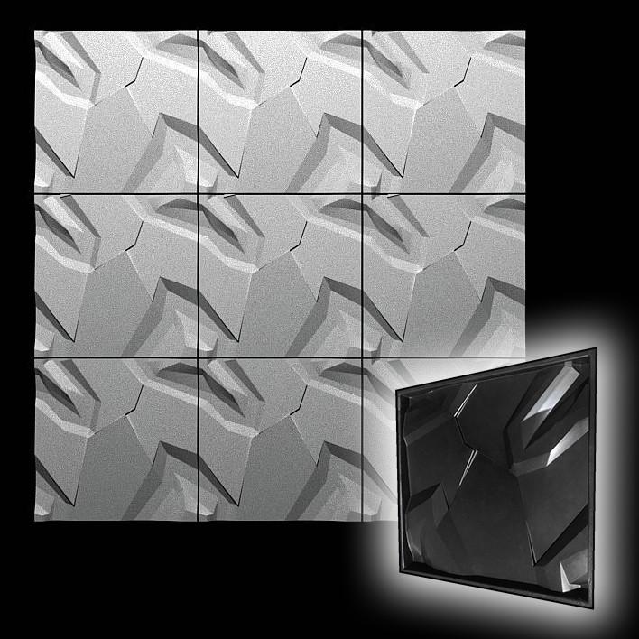 "Форма для 3D панелей ""Невада"" 500*500 мм"