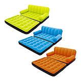 ✅Надувной диван Bestway 67356, 188 х 152 х 64 см с электрическим насосом. Зеленый, 2 в 1, фото 4