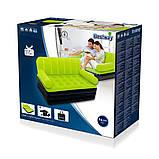 ✅Надувной диван Bestway 67356, 188 х 152 х 64 см с электрическим насосом. Зеленый, 2 в 1, фото 5