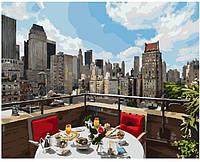 """Картина по номерам. Brushme """"Завтрак в большом городе """" GX8390"""