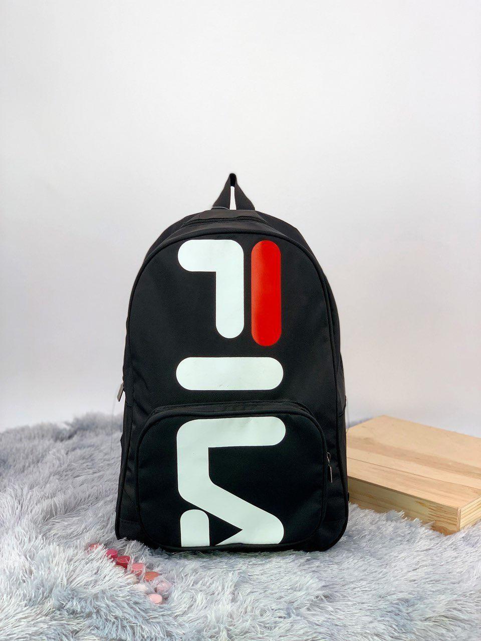 Рюкзак в стиле FILA черный
