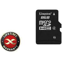 Карта памяти Kingston 8Gb microSDHC class 4 (SDC4/8GBSP)
