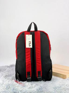 Рюкзак в стиле FILA черно-красный, фото 2