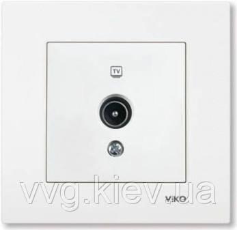 Розетка телевизионная TV белая VIKO Karre  купить по самой доступной ... 1f1cb6f40d4