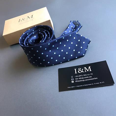 Галстук I&M Craft темно-синий в горошек (020324), фото 2