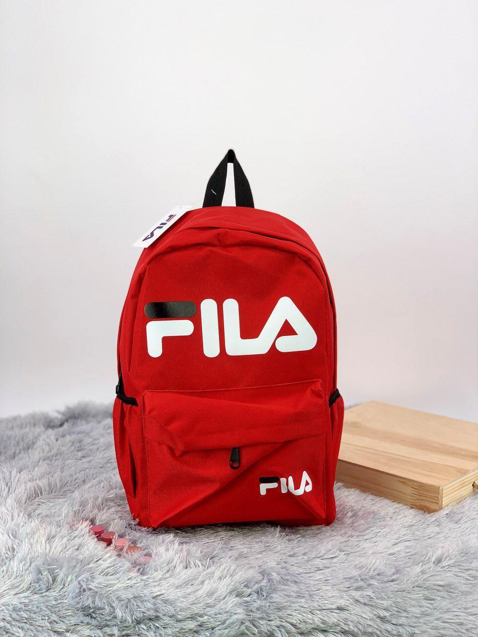 Рюкзак в стиле FILA красный